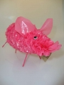 "Fair Trade ""Freedom"" Pink Pig made from Recycled Plastic Bags"