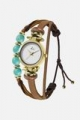 Gold, Tan and Aqua Hippie Chic Watch
