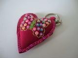 Keyring - Hearts & Sequins