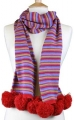 Scarf - Trinity in Scarlet Mix