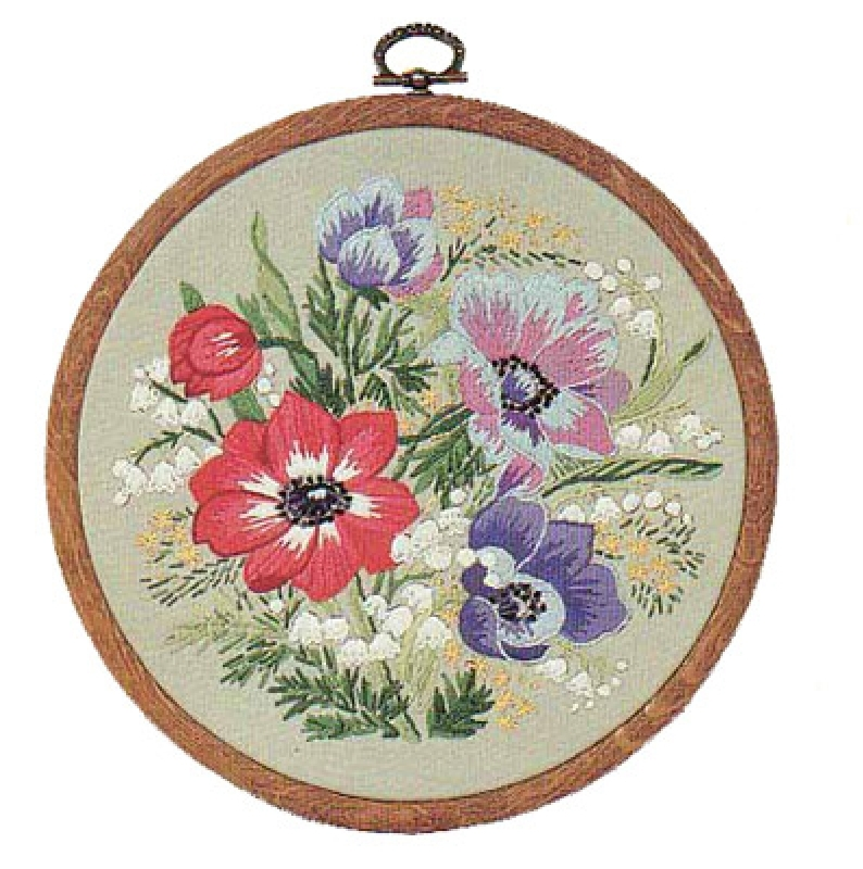 Design perfection freestyle embroidery kit floral rounds