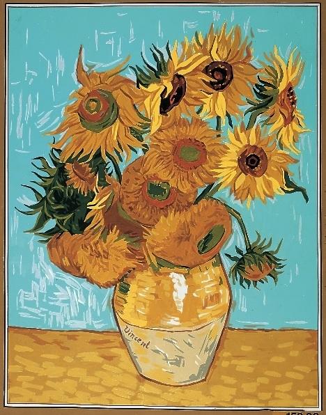 Royal Paris Tapestryneedlepoint Vase Of Sun Flowers By Van Gogh
