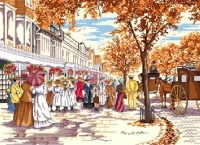 All Our Yesterdays Counted Cross Stitch Kit – Autumn on Lord Street