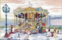 All Our Yesterdays Counted Cross Stitch Kit – Carousel at Montmartre, Paris