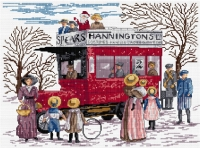 All Our Yesterdays Counted Cross Stitch Kit – Christmas Bus