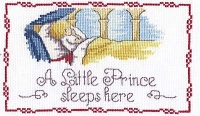 All Our Yesterdays Counted Cross Stitch Kit – Little Prince Sleeps Here