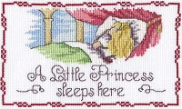 All Our Yesterdays Counted Cross Stitch Kit – Little Princess Sleeps Here