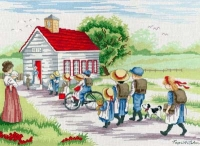 All Our Yesterdays Counted Cross Stitch Kit – Little Red School House