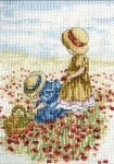 All Our Yesterdays Counted Cross Stitch Kit – Poppy Fields