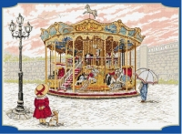 All Our Yesterdays Counted Cross Stitch Kit – Snowy Carousel