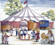 All Our Yesterdays Counted Cross Stitch Kit – The Circus Come to Town