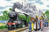 All Our Yesterdays Counted Cross Stitch Kit – The Flying Scotsman