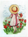 All Our Yesterdays Counted Cross Stitch Kit – Tiptoe through the Tulips