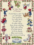 All Our Yesterdays Counted Cross Stitch Kit – Twelve Days of Christmas
