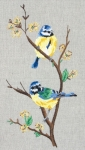 Anchor Freestyle Embroidery Kit – Blue Tits
