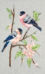 Anchor Freestyle Embroidery Kit – Bullfinches