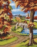 Anchor Starter Tapestry Kit - Autumn Scene