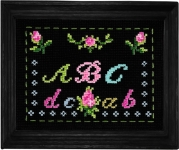 Anette Eriksson Counted Cross Stitch Kit - A B C on Black