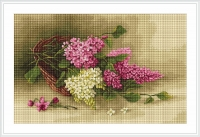 ArtGoblen Counted Cross Stitch Kit - Basket with Lilac