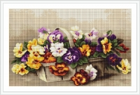 ArtGoblen Counted Cross Stitch Kit - Basket with Peonies