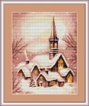 ArtGoblen Counted Cross Stitch Kit - Church at Christmas