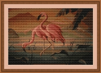 ArtGoblen Counted Cross Stitch Kit - Flamingos in Paradise