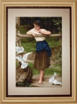ArtGoblen Counted Cross Stitch Kit - Girl Playing with Birds