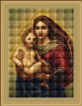ArtGoblen Counted Cross Stitch Kit - Madona and Child