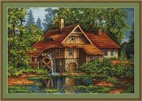 ArtGoblen Counted Cross Stitch Kit - Old House in the Forest