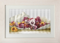 ArtGoblen Counted Cross Stitch Kit - Pansies