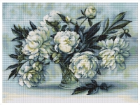 ArtGoblen Counted Cross Stitch Kit – Peonies in Vase
