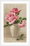 ArtGoblen Counted Cross Stitch Kit - Pink Roses