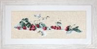 ArtGoblen Counted Cross Stitch Kit – Raspberries & Butterflies
