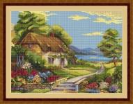 ArtGoblen Counted Cross Stitch Kit - The Lake House