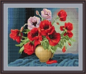 ArtGoblen Counted Cross Stitch Kit - Vase of Roses