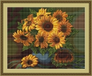 ArtGoblen Counted Cross Stitch Kit - Vase of Sunflowers