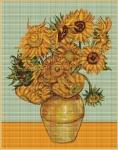 ArtGoblen Counted Cross Stitch Kit - Vase of Sunflowers