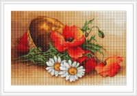 ArtGoblen Counted Cross Stitch Kit - Wild Flowers