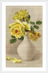 ArtGoblen Counted Cross Stitch Kit - Yellow Roses