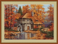 ArtGoblen Petit Point Tapestry Kit - Autumn Landscape