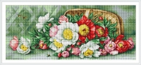 ArtGoblen Petit Point Tapestry Kit - Basket with Peonies