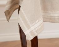 Atlascraft Broderie unprinted Linen/Cotton Tablecloth - Hemmed 80 x 80cm Light Ecru