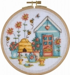 Bee Happy - 14 count Counted Cross Stitch Kit with Hoop