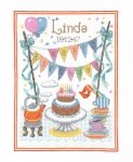 Birthday Tea Sampler - 14 count Counted Cross Stitch Kit