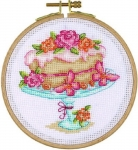 Blooming Delicious - 14 count Counted Cross Stitch Kit with Hoop