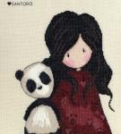 Bothy Threads Counted Cross Stitch Kit -  Gorjuss - Panda Girl