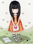 Bothy Threads Cross Stitch Kit -  Gorjuss - I gave you my heart