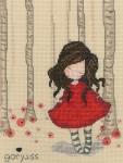 Bothy Threads Cross Stitch Kit -  Gorjuss - Poppy Wood