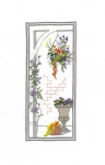 Classic Embroidery Cross Stitch Kit - Town Garden - Basket