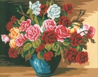 Collection D' Art Needlepoint/Tapestry Kit – Bowl of Roses
